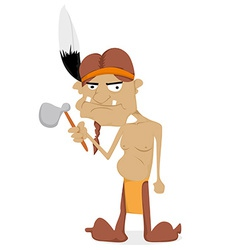 Cartoon Indian vector image
