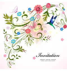 invitation flower vector image vector image