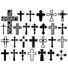 Set of different crosses vector image vector image