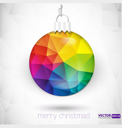 Triangle Christmas decorations background vector image vector image