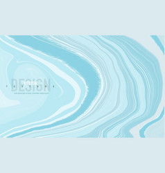 abstract pastel blue marbled surface swirls vector image