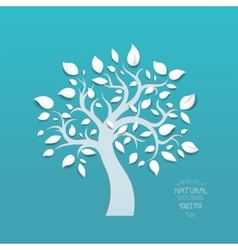 Abstract tree on blue background vector