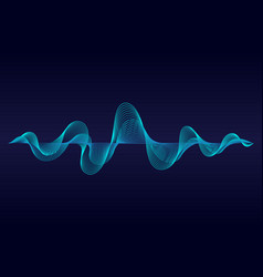 abstract wavy lines surface on dark blue vector image