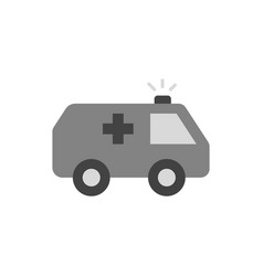 ambulance car gray icon on white background vector image
