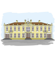 an old european house vector image