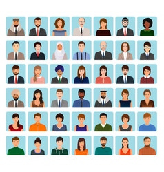 Avatars characters set of different people vector