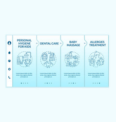 Baby care onboarding template vector