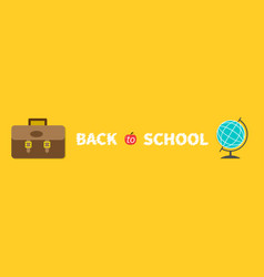 back to school big brown schoolbag briefcase vector image