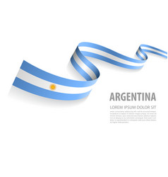 Banner with argentina flag colors vector