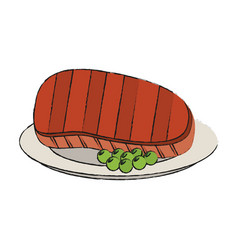 Beef steak food icon image vector