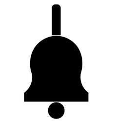 bell icon on white background bell sign flat vector image