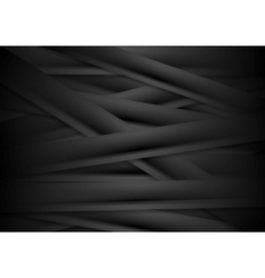 Black striped corporate abstract background vector