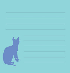 blank for records with cat sign-up sheet vector image