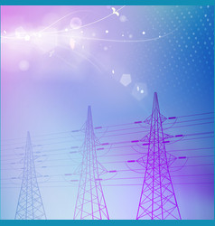 blue electric power transmission tower vector image