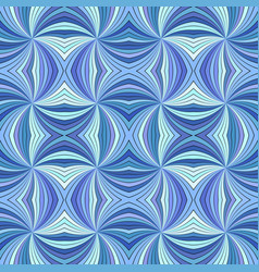 Blue psychedelic abstract seamless striped spiral vector
