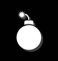bomb icon flat vector image