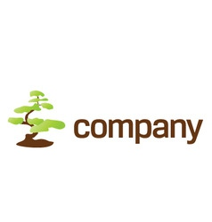 Bonsai tree care logo vector