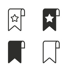Bookmark icon set vector