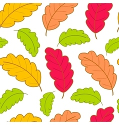 Bright pattern with oak leaves-01 vector