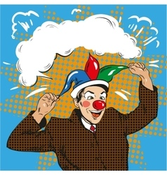 Businessman clown in jester vector