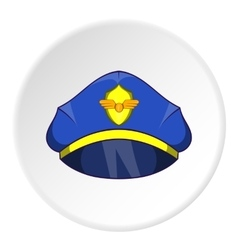 Cap pilot icon cartoon style vector