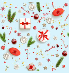 christmas boxes pattern vector image