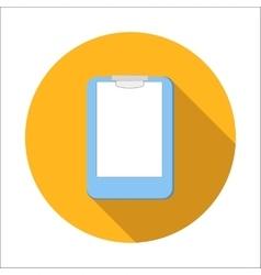 Clipboard flat icon vector