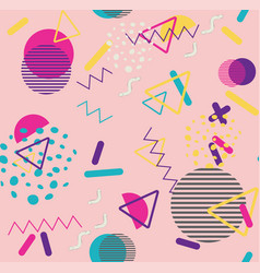 Colorful vintage geometric patterns vector