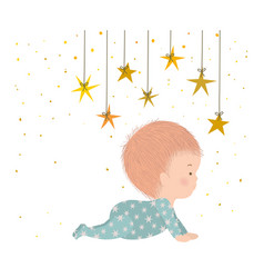 Cute baboy with stars design vector