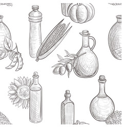 drawing seamless pattern with oils vector image