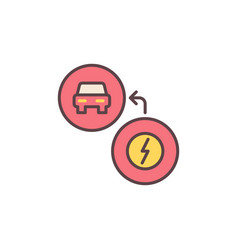 Ev charging concept colored simple icon vector