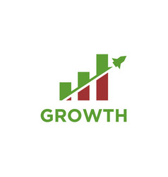 Fast rocket growth finance logo icon template vector