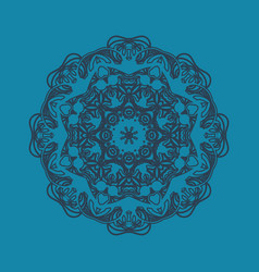 Flat icon hand-made stylization of ornamental vector