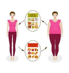 Food culture and woman figure vector image