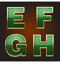 golden figure with green vector image