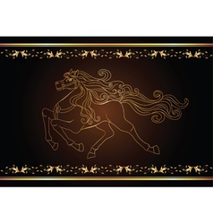 Golden horse vector