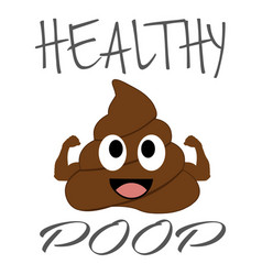 Healthy poop with flexing arms vector