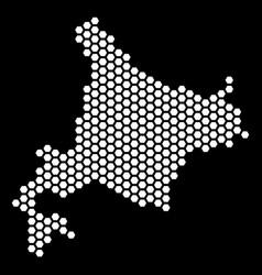 Honeycomb hokkaido island map vector