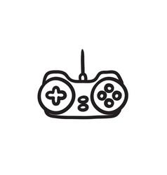 Joystick sketch icon vector