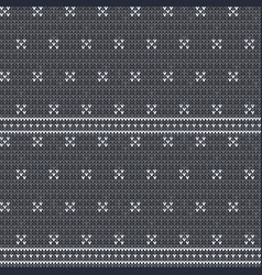 knitted gray seamless pattern background vector image