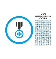 Maltese cross rounded icon with 1000 bonus icons vector