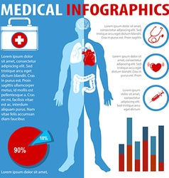 Medical infographics with text and anatomy vector