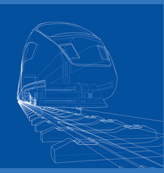 Modern speed train concept vector