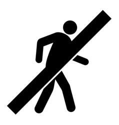 No walking man - icon vector
