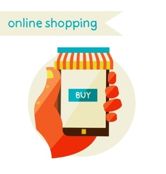 Online shopping Sale Flat design modern vector