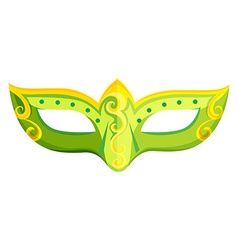 Party mask in green color vector image