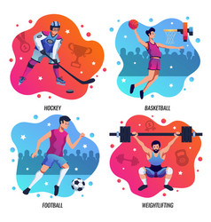 people in sport 2x2 design concept vector image