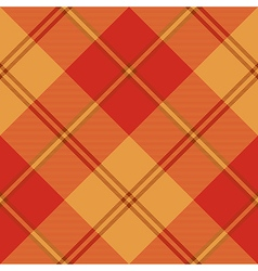 Red warm color plaid seamless pattern vector