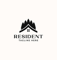 resident real estate logo template isolated vector image