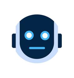 robot face icon shocked face emotion robotic emoji vector image